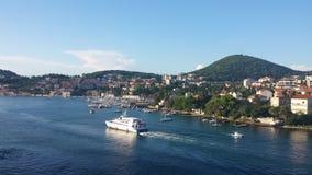 Morgon i Dubrovnik arkivbilder