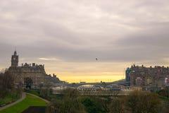 Morgon i Edinburg Royaltyfria Foton