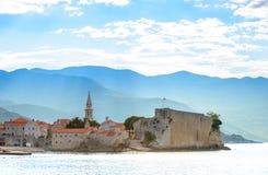 Morgon i gammal stad av Budva Montenegro Balkans, Europa Royaltyfri Fotografi