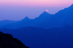 Morgon i höga Tatras, Slovakien Fotografering för Bildbyråer
