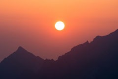 Morgon i höga Tatras, Slovakien Royaltyfria Bilder