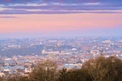 Morgon i Lviv 11 Arkivfoton