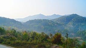 Morgon i norr Vietnam Arkivfoto