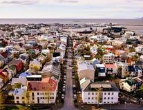 Morgon i Reykjavik arkivfoto