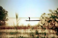 morgon i sjön Fotografering för Bildbyråer