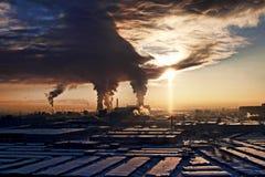 Morgon i staden Arkivbilder