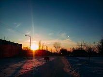 Morgon i staden Arkivbild