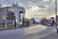 Morgon i staden av Thessaloniki Arkivbild
