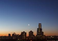 Morgon i staden, soluppgång i staden Royaltyfri Fotografi
