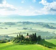Morgon i Tuscany, Italien Royaltyfri Fotografi