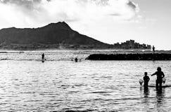 Morgon i Waikiki Arkivfoton