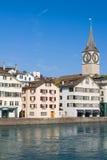 Morgon i Zurich fotografering för bildbyråer