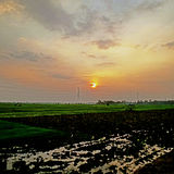 Morgon indonesia Fotografering för Bildbyråer