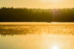 Morgon lake Royaltyfria Foton