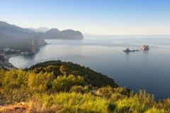 Morgon på Adriatiskt havet royaltyfri foto