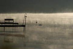 Morgon på dammet Royaltyfri Fotografi