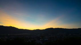 Morgon på den Ampang dalen i Malaysia Royaltyfri Bild