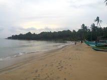 Morgon på den Arugam fjärden, Sri Lanka Fotografering för Bildbyråer