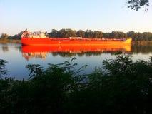 Morgon på floden Fotografering för Bildbyråer
