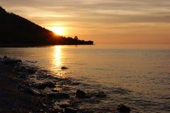 Morgon på Lake Baikal Royaltyfria Foton