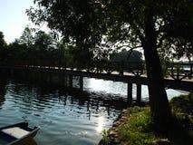 Morgon på laken Arkivfoton
