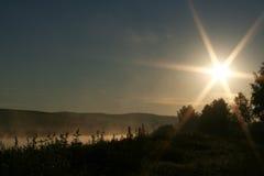Morgon på laken Arkivbilder