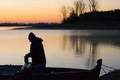 Morgon på sjön Kerkini Grekland Royaltyfria Bilder