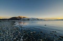 Morgon på sjön Tekapo Arkivbilder