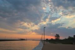 Morgon på sjösidan, Italien Royaltyfri Bild