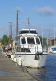 Morgon på skeppsdockan av Lappeenranta finland Royaltyfri Bild