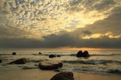 Morgon på stranden Arkivfoton