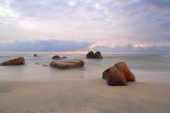 Morgon på stranden Arkivfoto