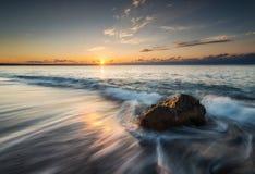 Morgon på stranden Royaltyfri Bild