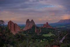 Morgon på trädgården av gudarna, Colorado Royaltyfria Foton