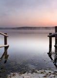Morgon sjö Arkivfoton