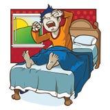 morgon som vaknar upp stock illustrationer