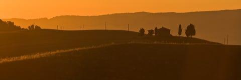 morgon tuscany Arkivbild