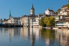 Morgon Zurich Arkivbild