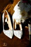 Morgonbröllopförberedelse Royaltyfri Bild
