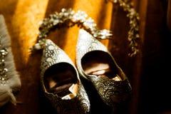 Morgonbröllopförberedelse Royaltyfria Bilder
