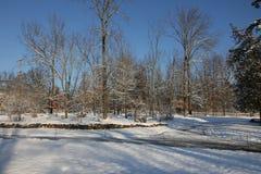 Morgonen efter den första snön Fotografering för Bildbyråer