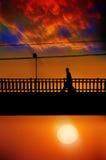 morgonen går Fotografering för Bildbyråer