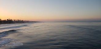 Morgonen kunde i havet royaltyfria bilder