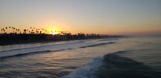 Morgonen kunde i havet royaltyfri bild