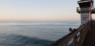 Morgonen kunde i havet royaltyfri fotografi
