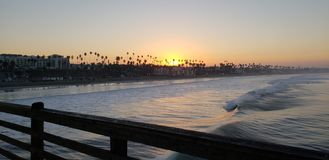 Morgonen kunde i havet arkivfoton