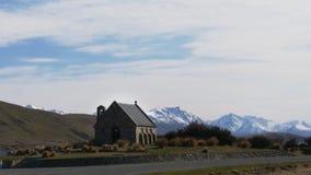 Morgonen zoomar in skottet av kyrkan av den bra herden lager videofilmer