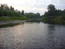 Morgonflod arkivfoton