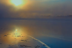 Morgonflod i sommartid Arkivbilder
