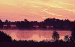 Morgonflod i sommartid Arkivfoto